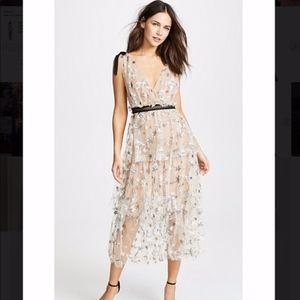 SELF-PORTRAIT Star Midi Dress